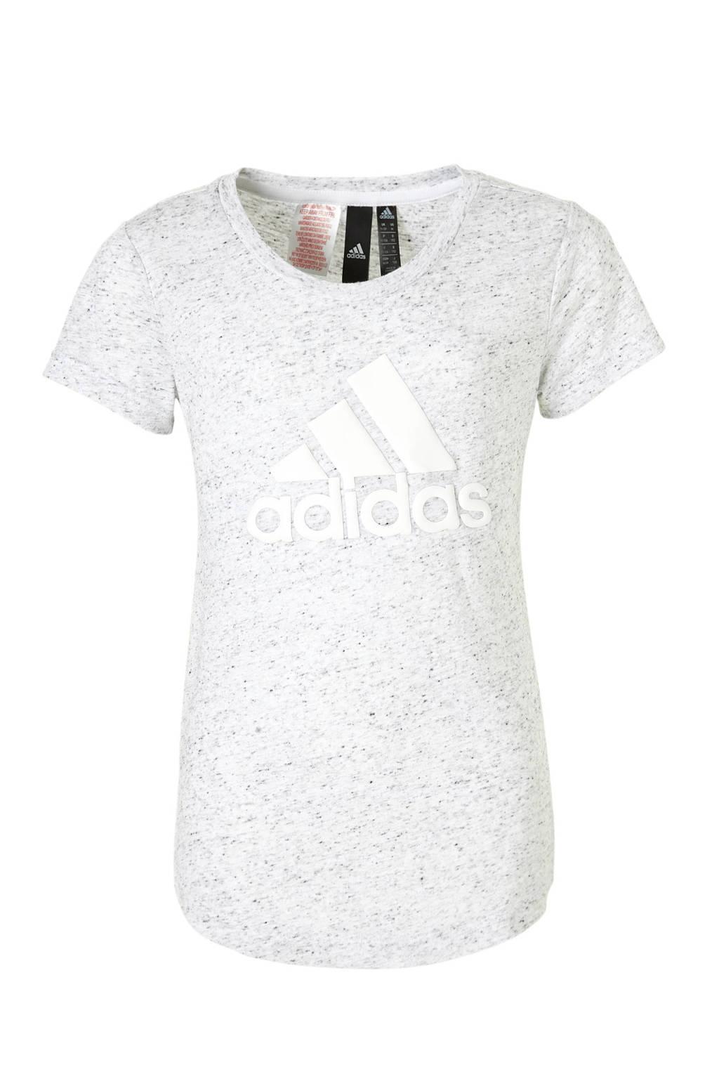 adidas performance sport T-shirt lichtgrijs, Lichtgrijs