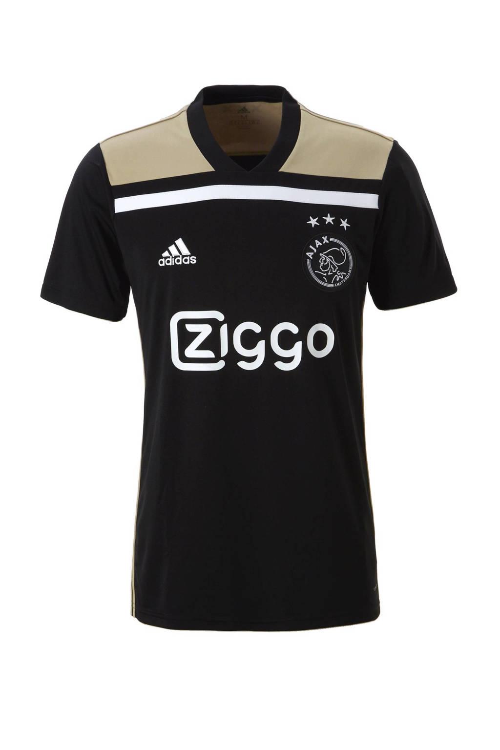adidas Performance Senior Ajax uit voetbalshirt, Zwart/ wit/ zand
