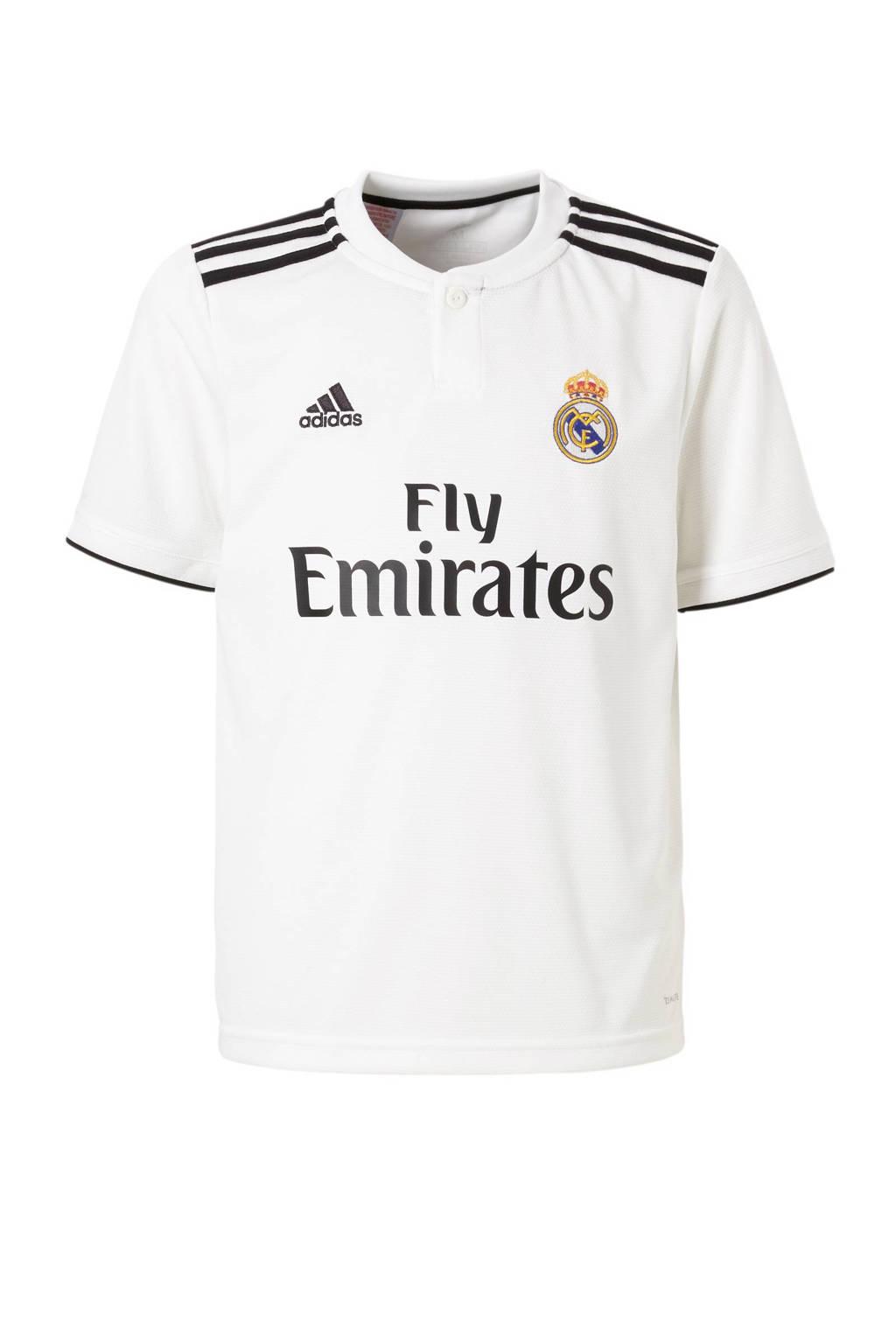 adidas Performance Junior Real Madrid Thuis voetbalshirt, Wit/zwart