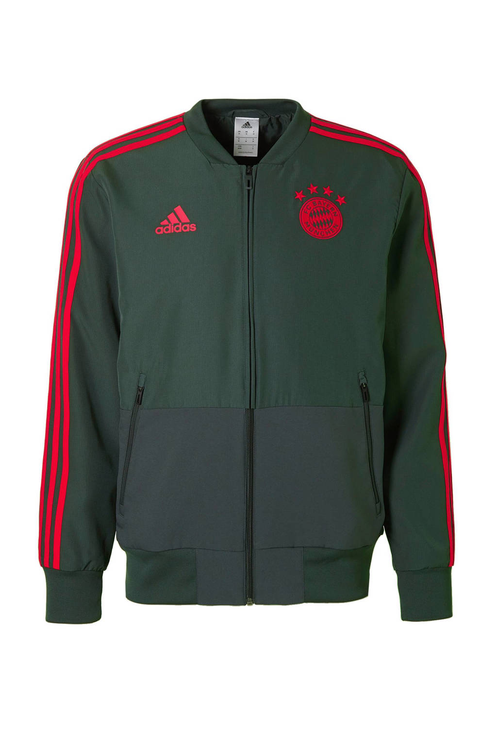 8d4f3964cbf adidas performance Senior FC Bayern München sportjack, Donkergroen/ rood
