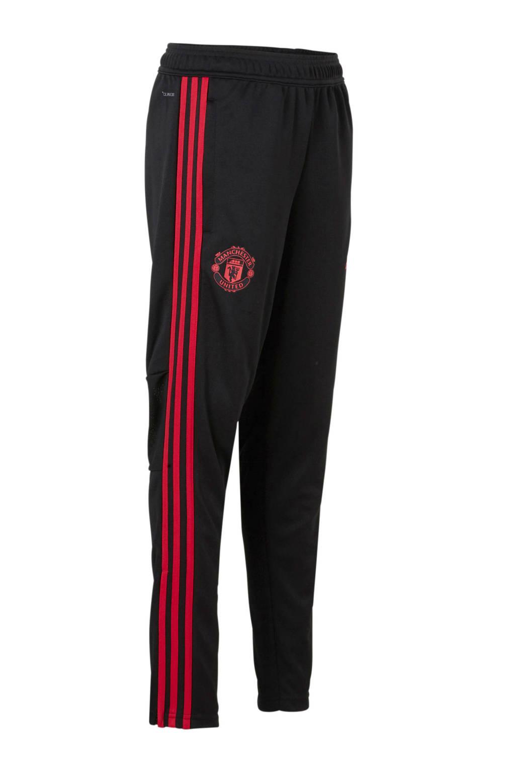 adidas performance Junior Manchester United sportbroek, Zwart/rood