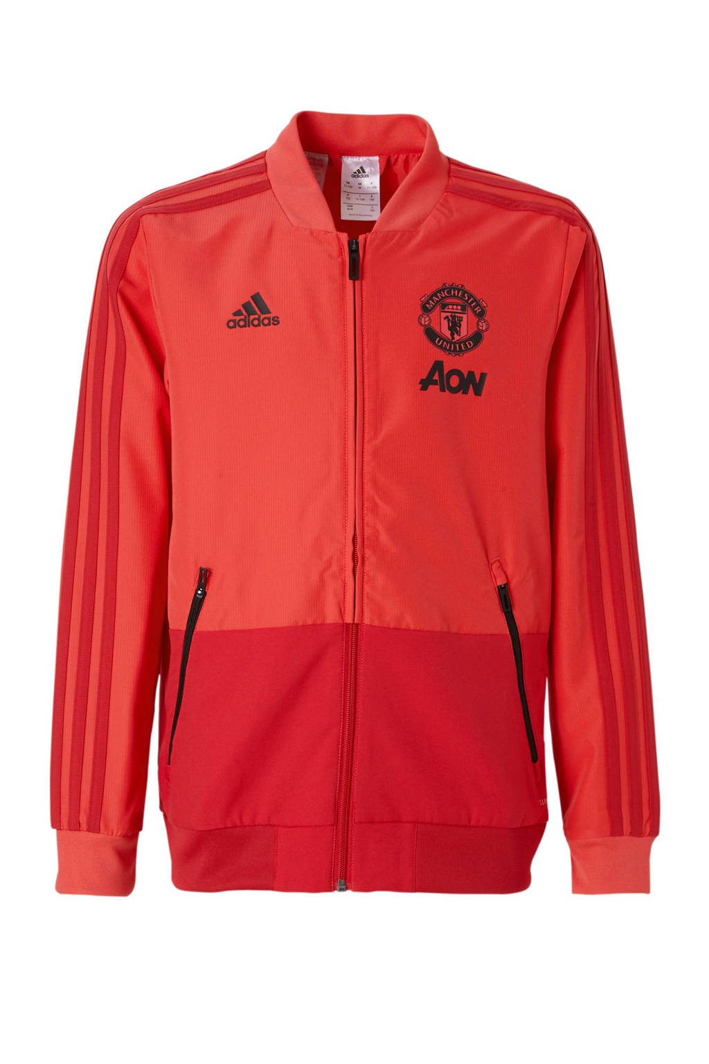 adidas performance Junior Manchester United voetbaljack, Rood/zwart