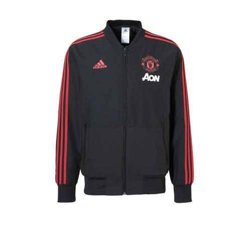 Manchester United Fc Presentatiejas 18-19 Zwart-Rood Heren Black-Red
