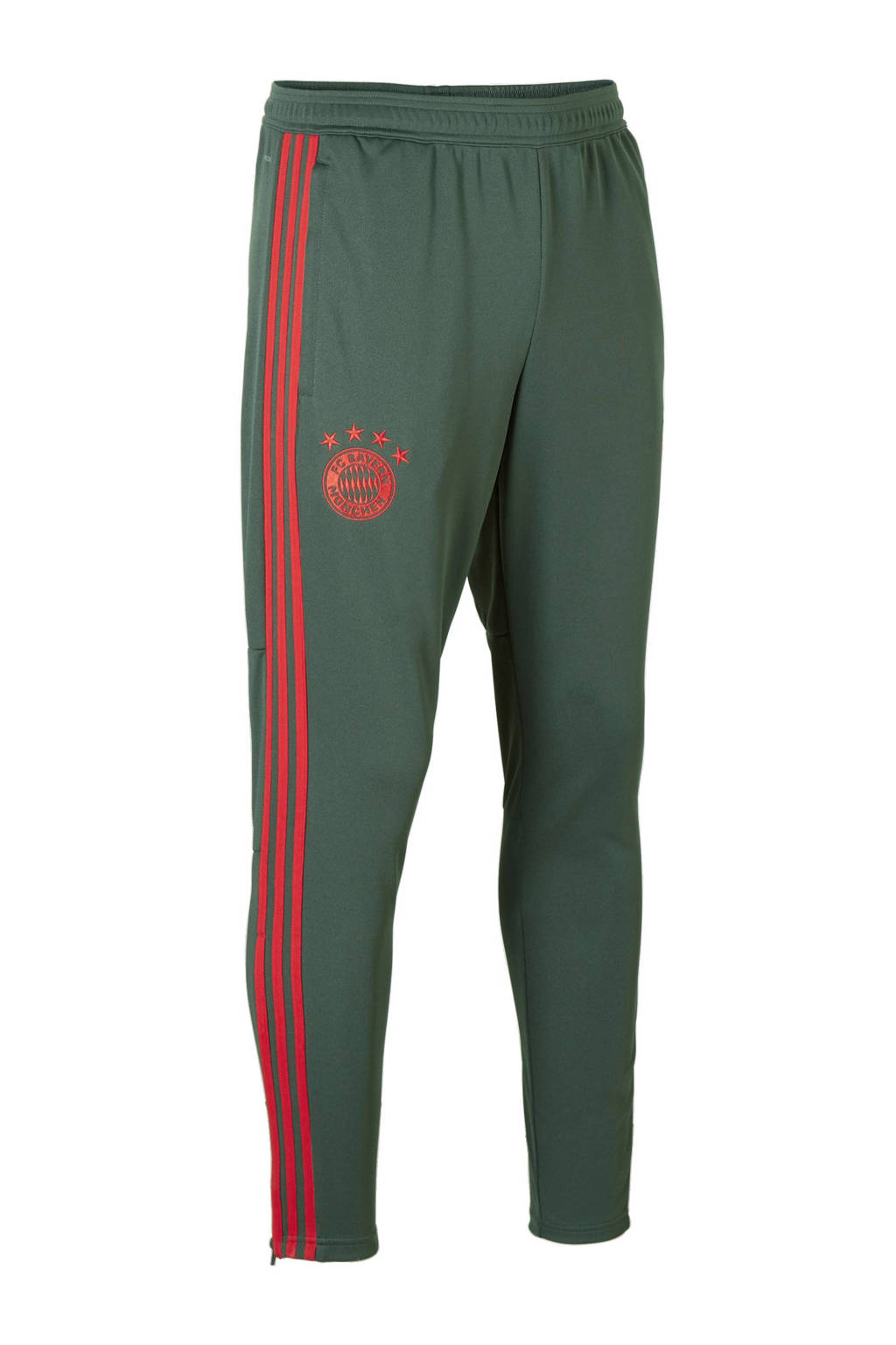 adidas performance Senior FC Bayern München sportbroek 7/8, Donkergroen/ rood