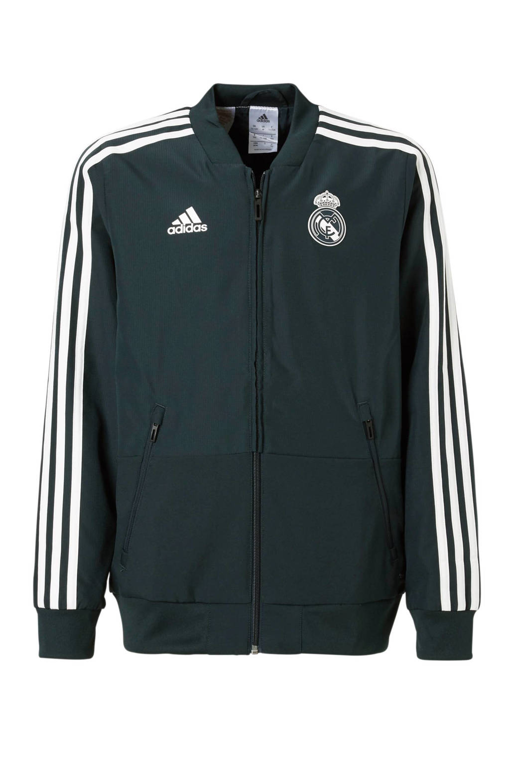 adidas performance Junior Real Madrid sportvest, Antraciet/wit
