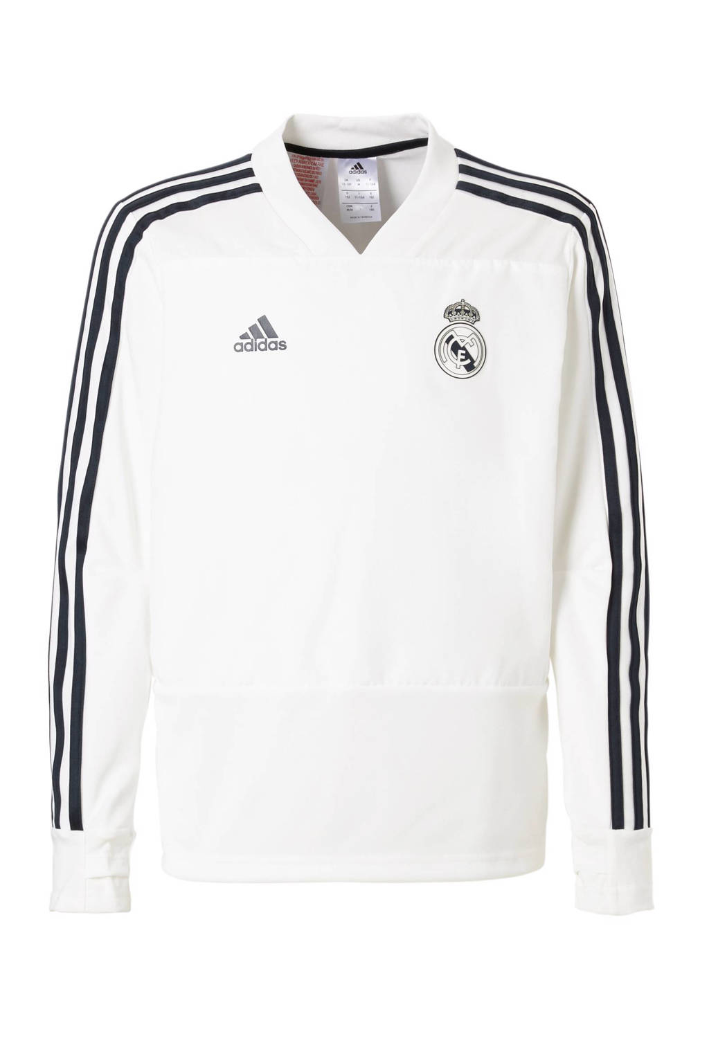adidas performance Junior Real Madrid Thuis voetbalshirt, Wit/marine