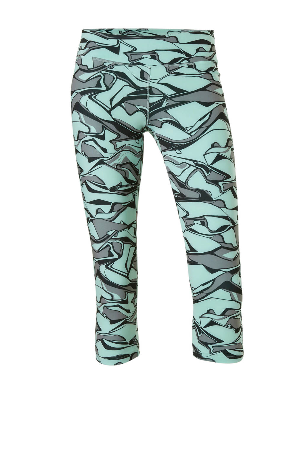 adidas performance capri sportbroek met all-over print mintgroen, Mintgroen
