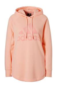 adidas / hoodie lichtroze