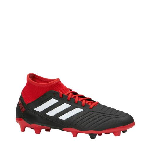 Predator 18.3 FG voetbalschoenen zwart-rood