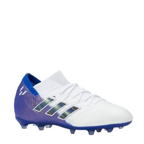 Nemeziz Messi 18.1 voetbalschoenen wit-blauw