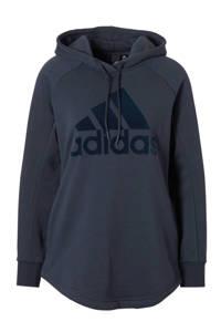 adidas / hoodie donkerblauw
