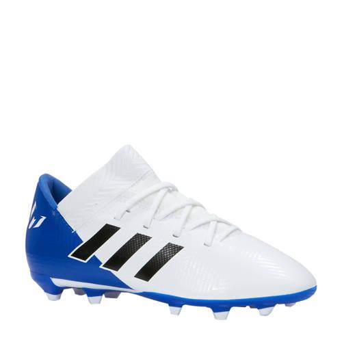 Nemeziz Messi 18.3 FG voetbalschoenen wit-blauw