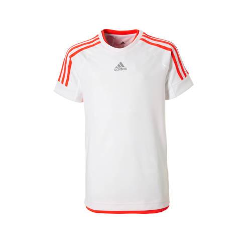 sport T-shirt wit-oranje