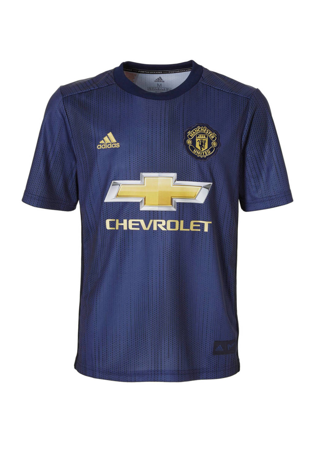 adidas Performance Junior Manchester United voetbalshirt, Donkerblauw/ bruin