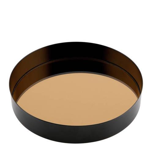 Dienblad Jay met spiegel zwart 16,5cm