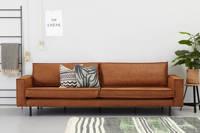 wehkamp home eco-leren 4-zitsbank Lexington, Cognac, Eco-leer (70% echt leer, 30% polyester)