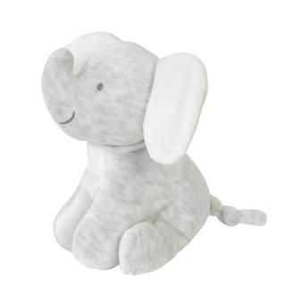 olifant grijs knuffel 15 cm