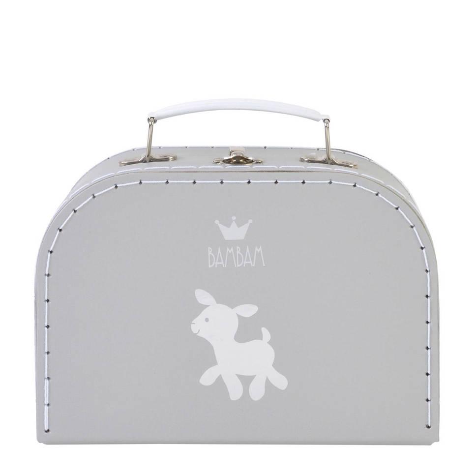 BamBam koffertje lam medium grijs, Grijs