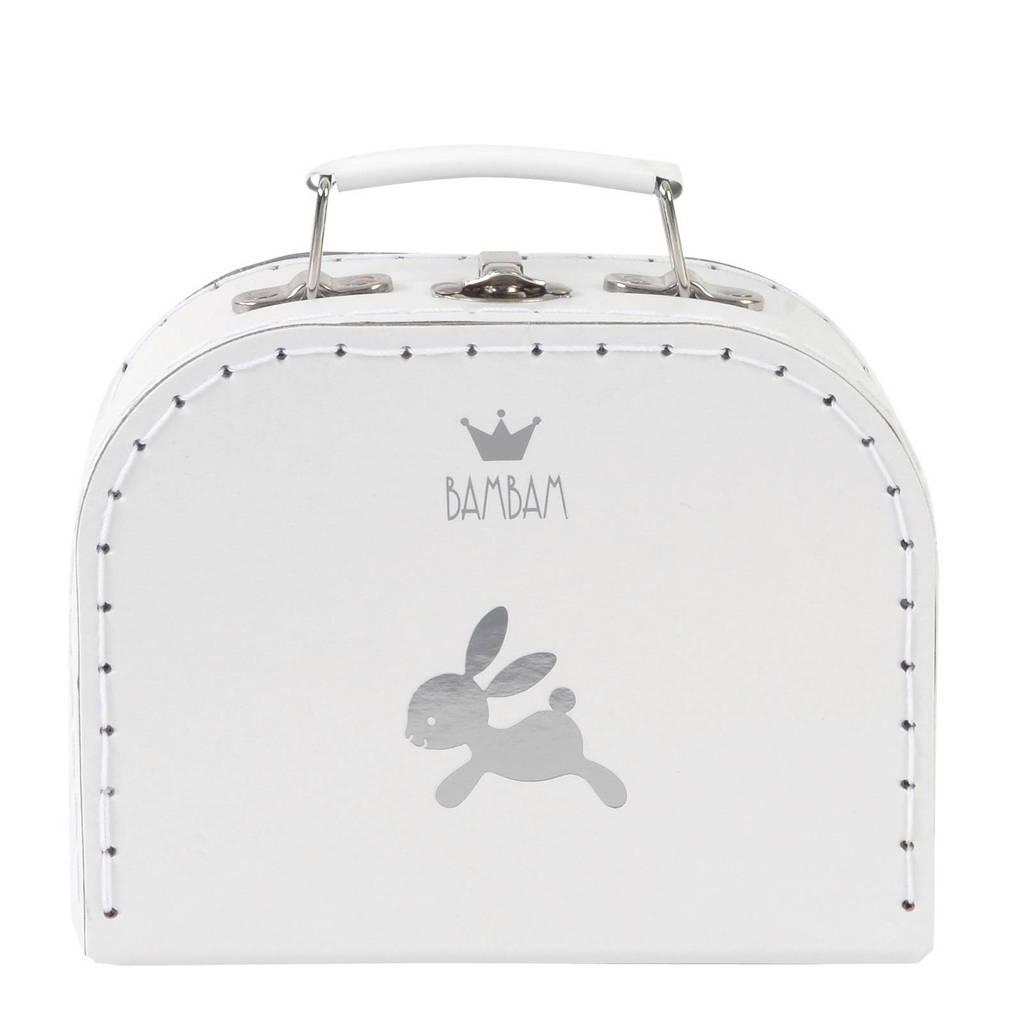 BamBam koffertje konijn small wit, Wit