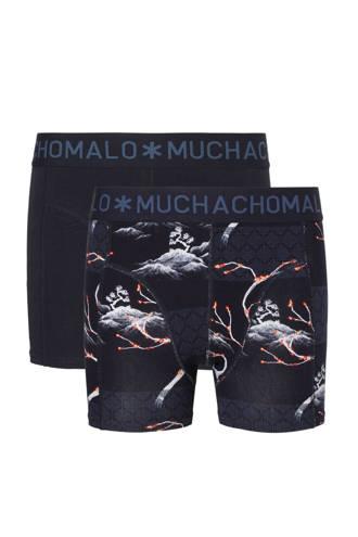 Junior  boxershort - set van 2 donkerblauw