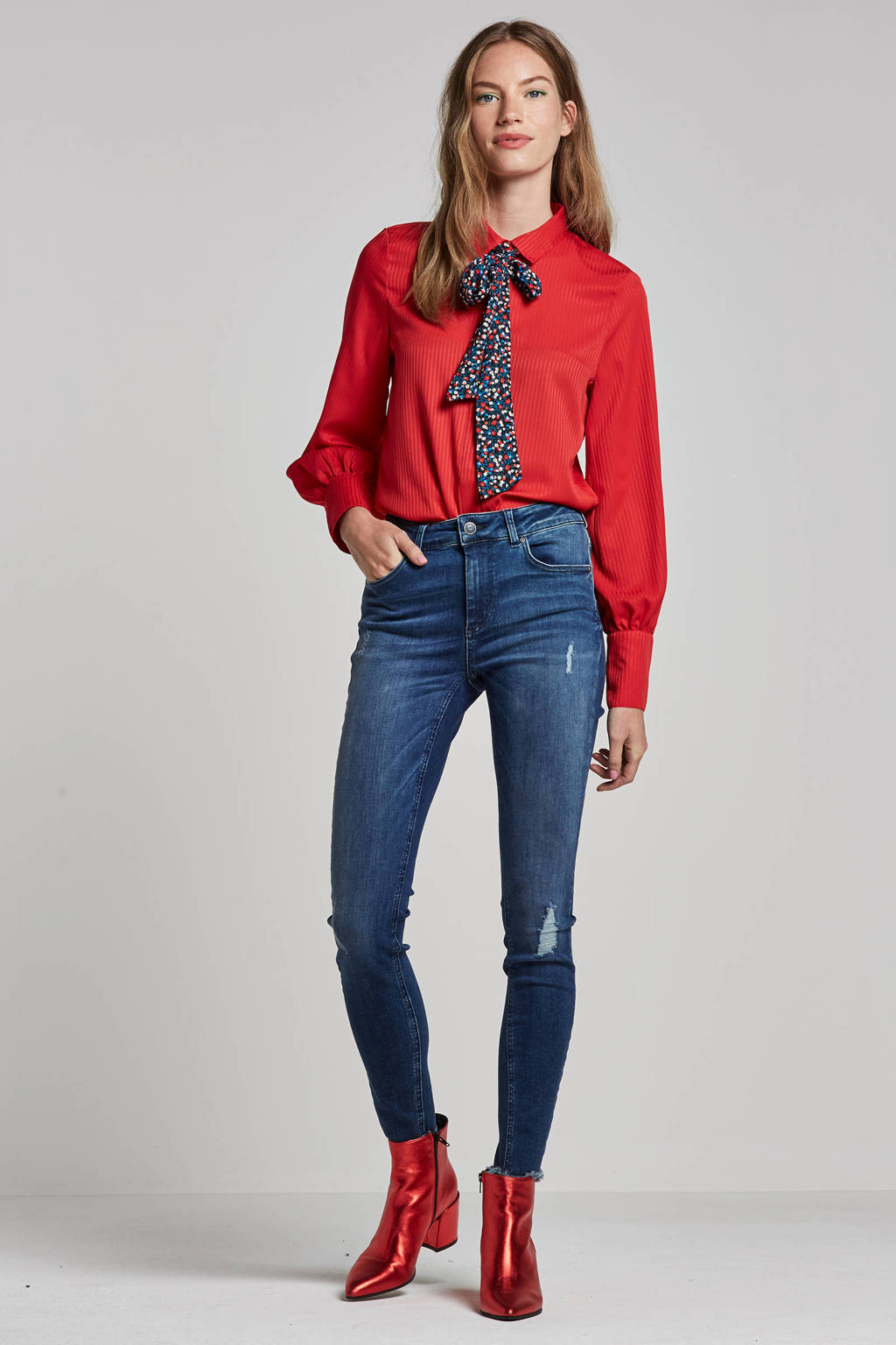 ONLY skinny fit jeans, Donkerblauw