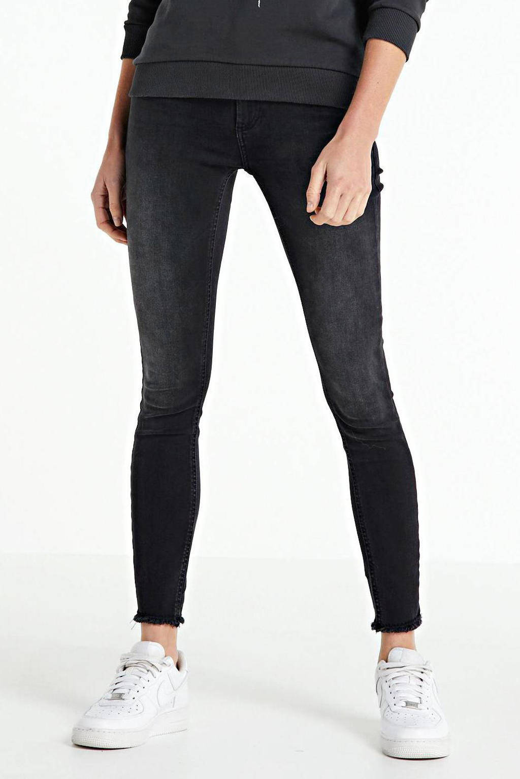 ONLY skinny jeans ONLBLUSH black denim, Zwart