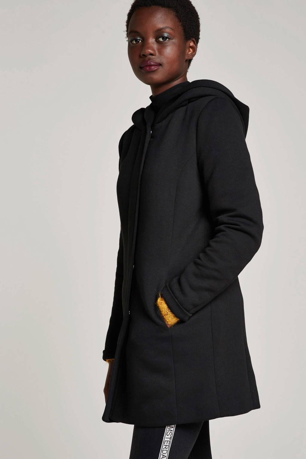 ONLY coat met katoen, Zwart