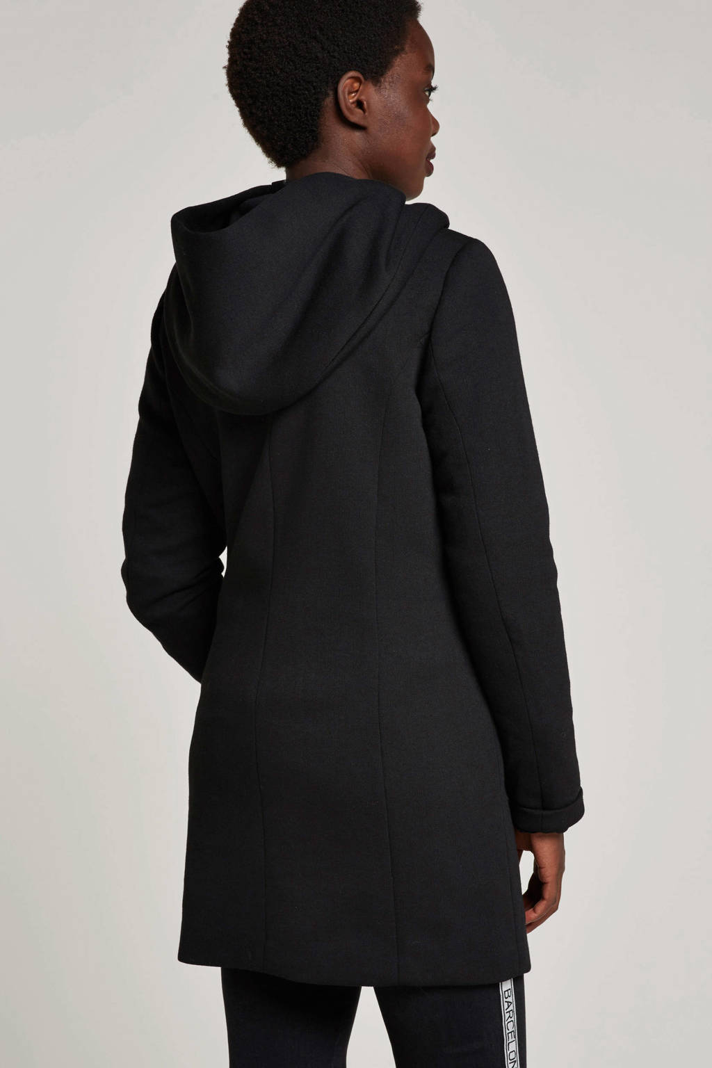 ONLY coat Dona met katoen, Zwart