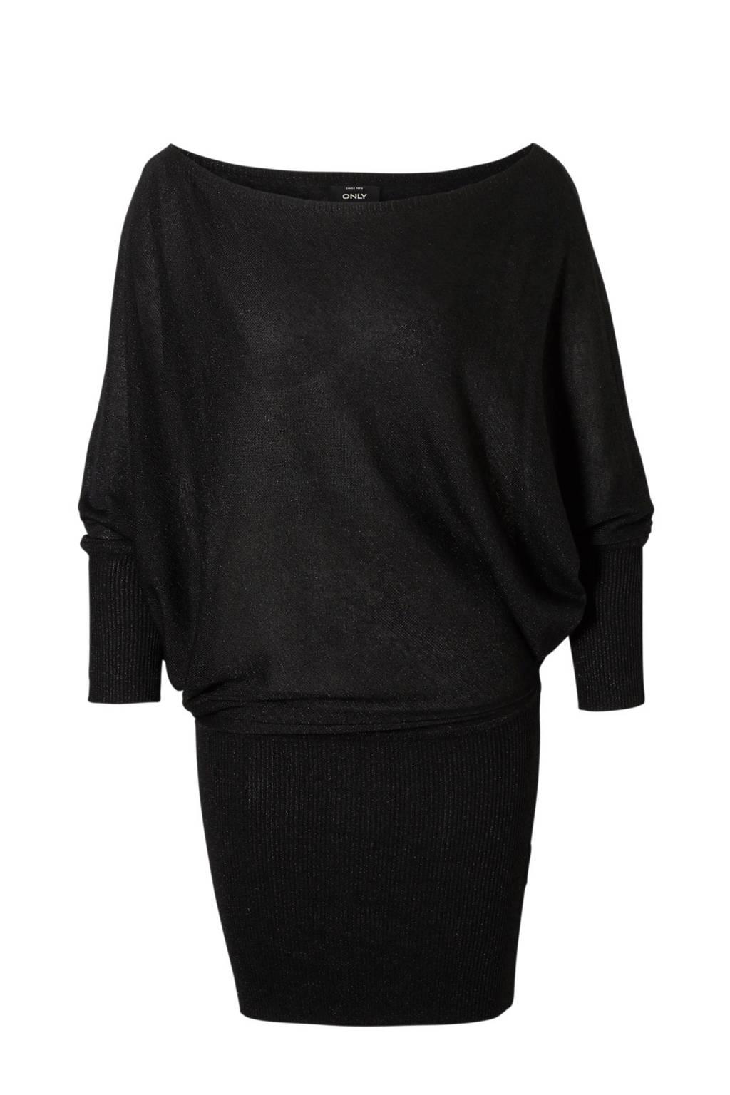 ONLY metallic jurk, Zwart/goud