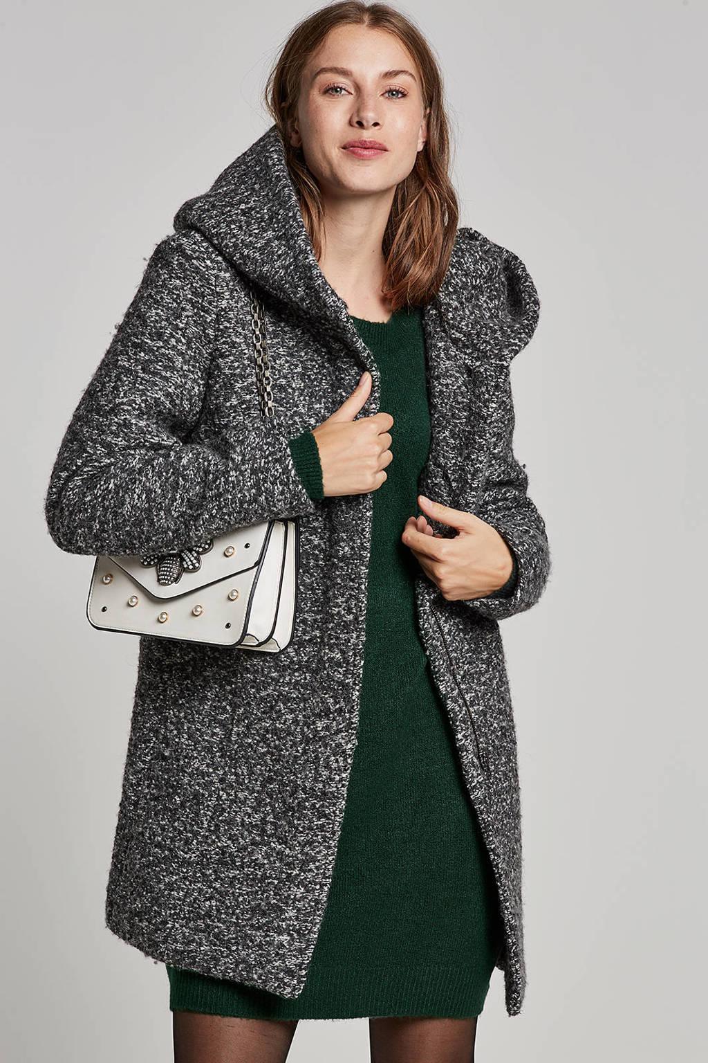 ONLY coat met wol, Grijs