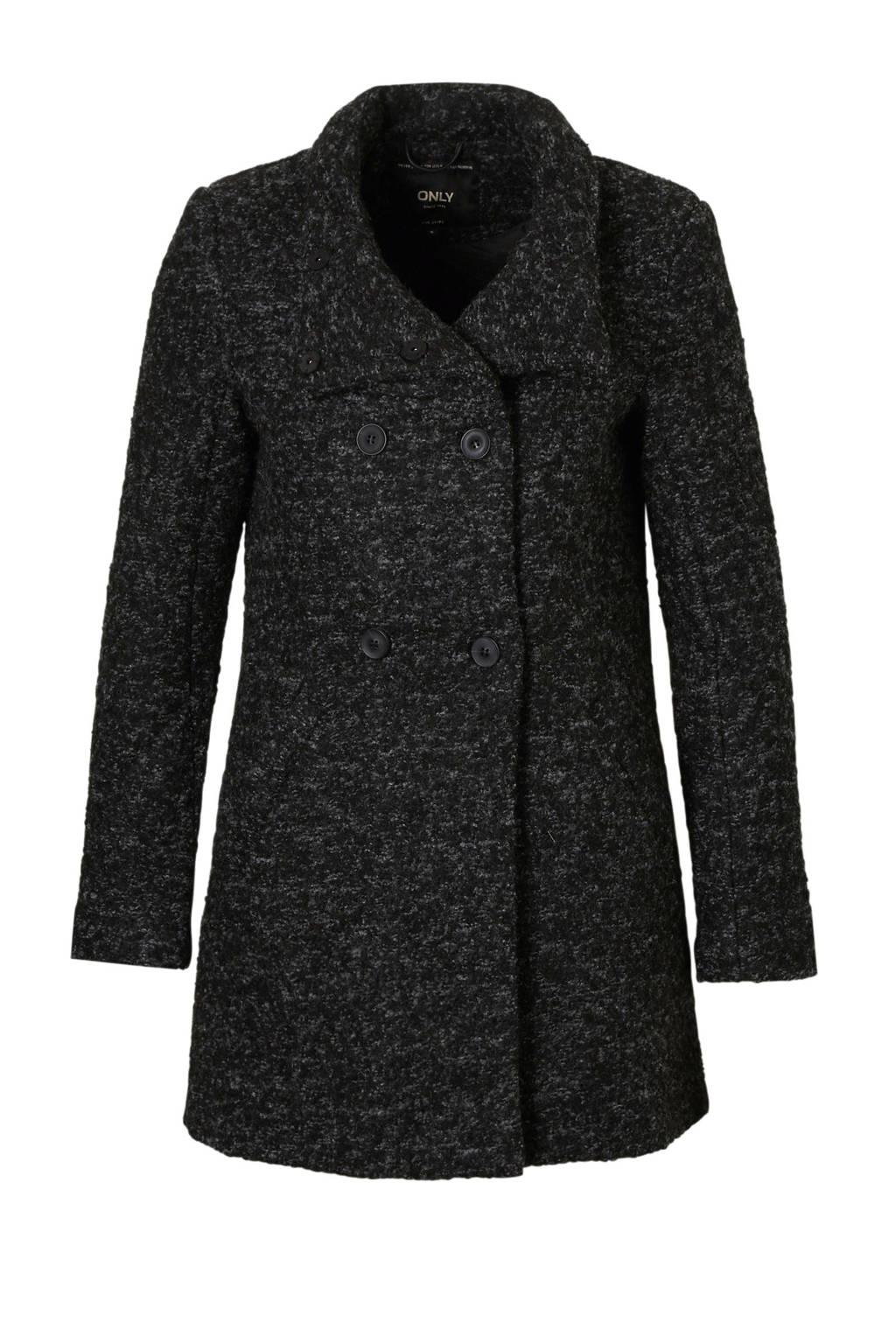 ONLY coat, Zwart/grijs