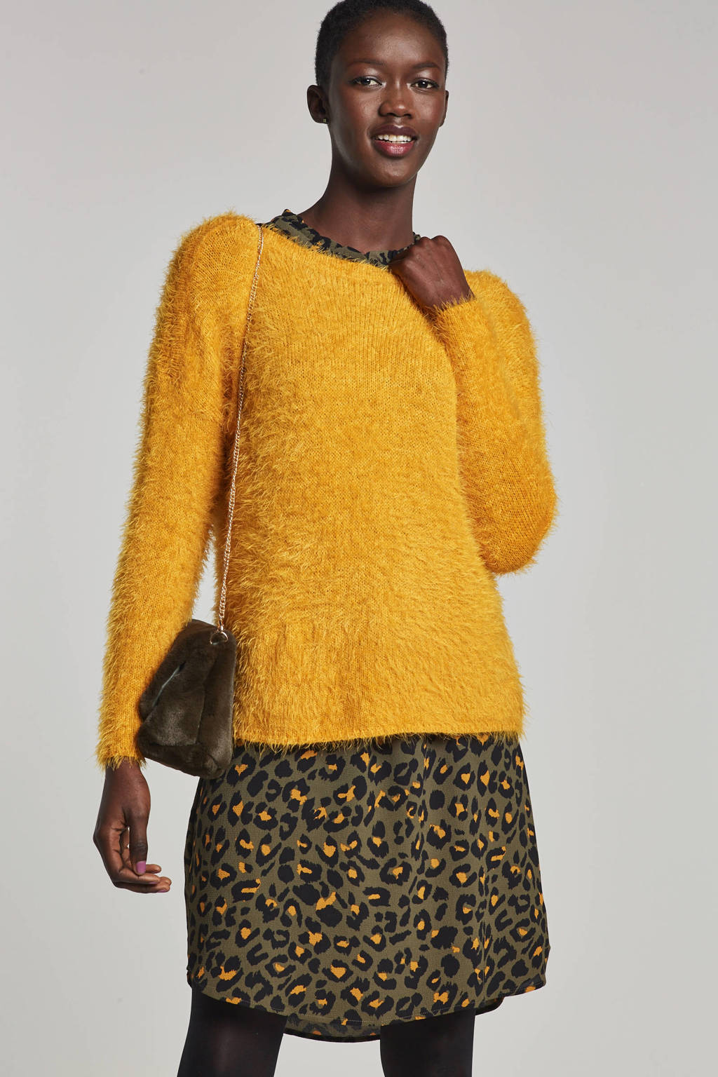 ONLY harige trui, Geel