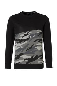 sweater met camouflageprint