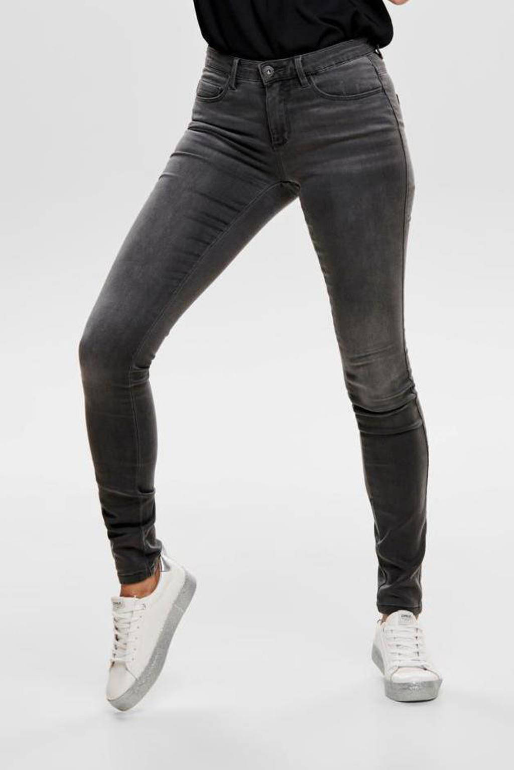 ONLY skinny jeans ONLROYAL dark grey denim, Grijs