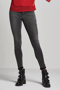 ONLY high waist skinny jeans ONLROYAL dark grey denim, Grijs