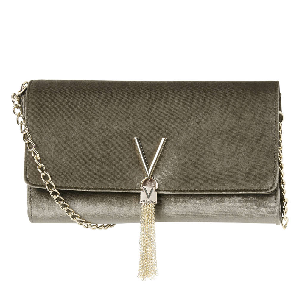 Valentino  velours clutch Marilyn, Taupe
