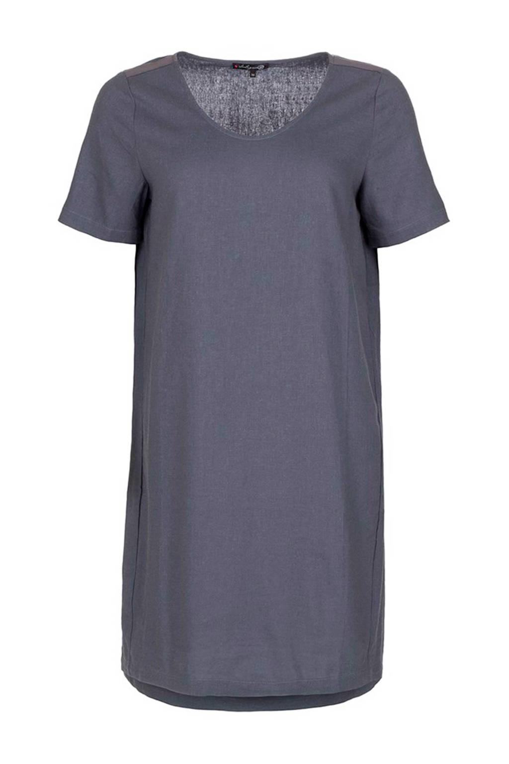 La Ligna jurk met linnen grijs, Grijs