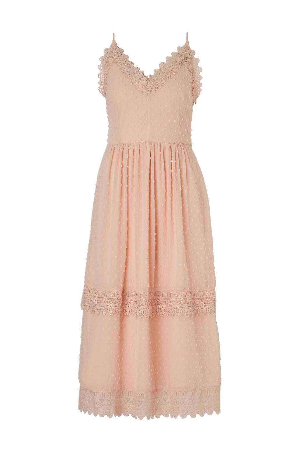 a477eecc06631f C A Yessica spaghetti jurk met kant