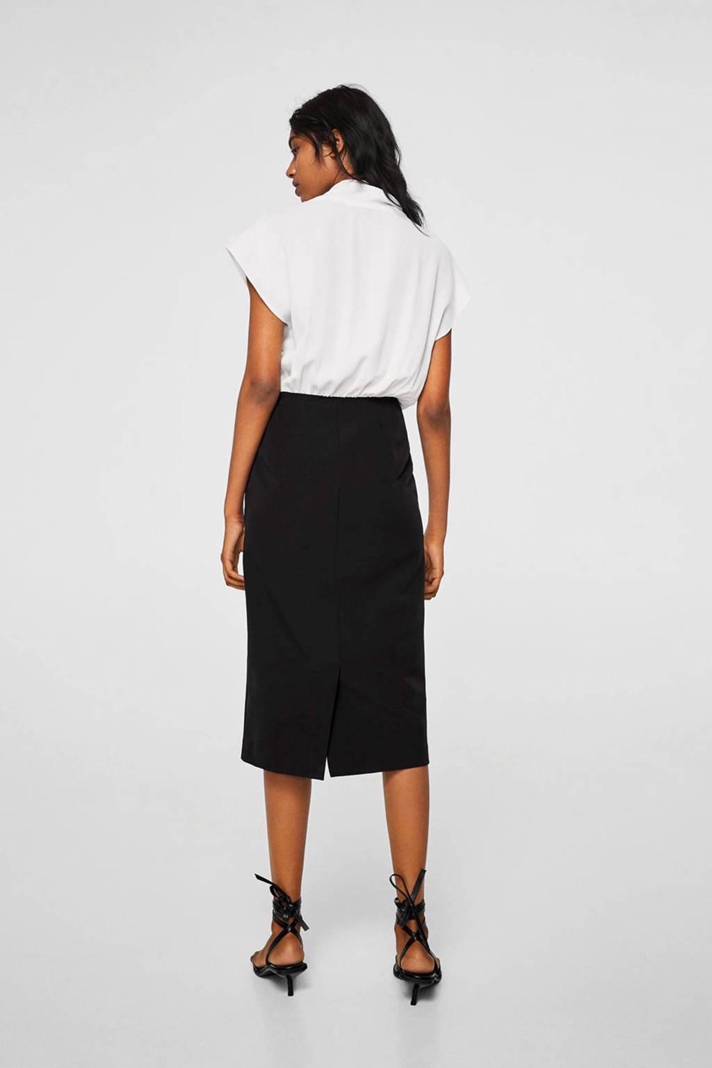 Mango jurk tweekleurig, Zwart/wit
