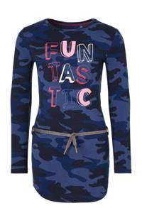 Quapi jurk Lamira 3 met camouflageprint donkerblauw, Donkerblauw