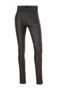 FREEQUENT Shantal high waist broek met coating (dames)