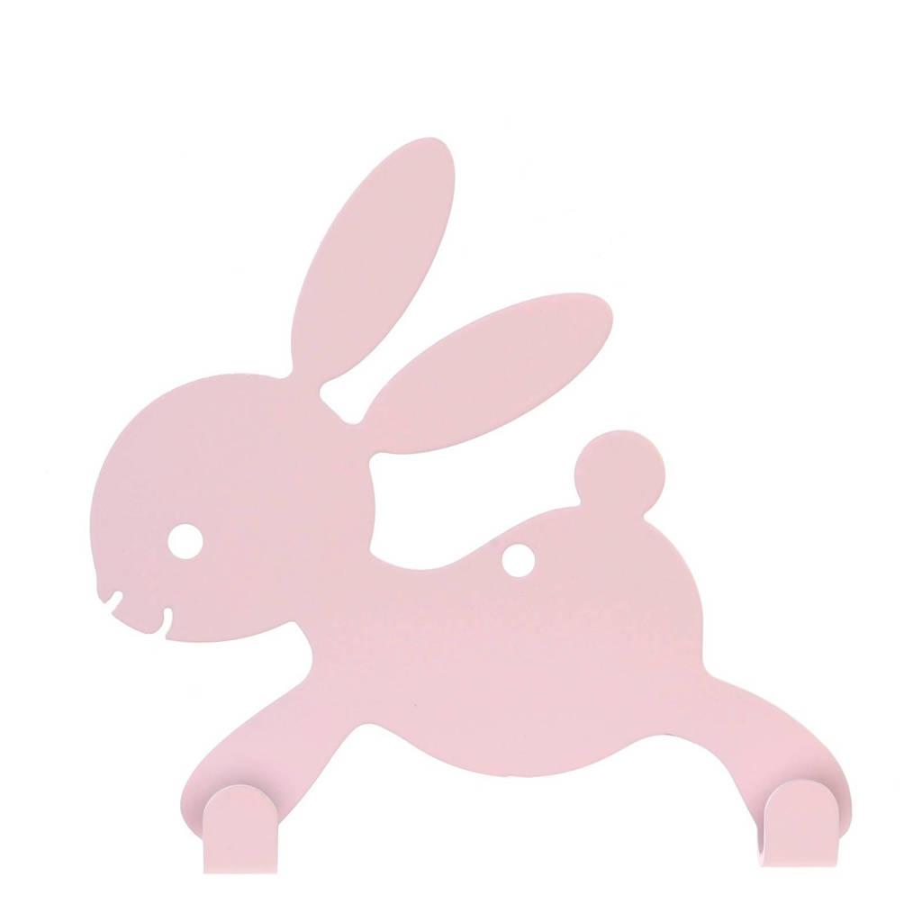 BamBam wandhaakje konijn roze, Roze