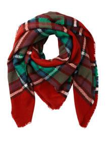 Pieces vierkante sjaal met all over print