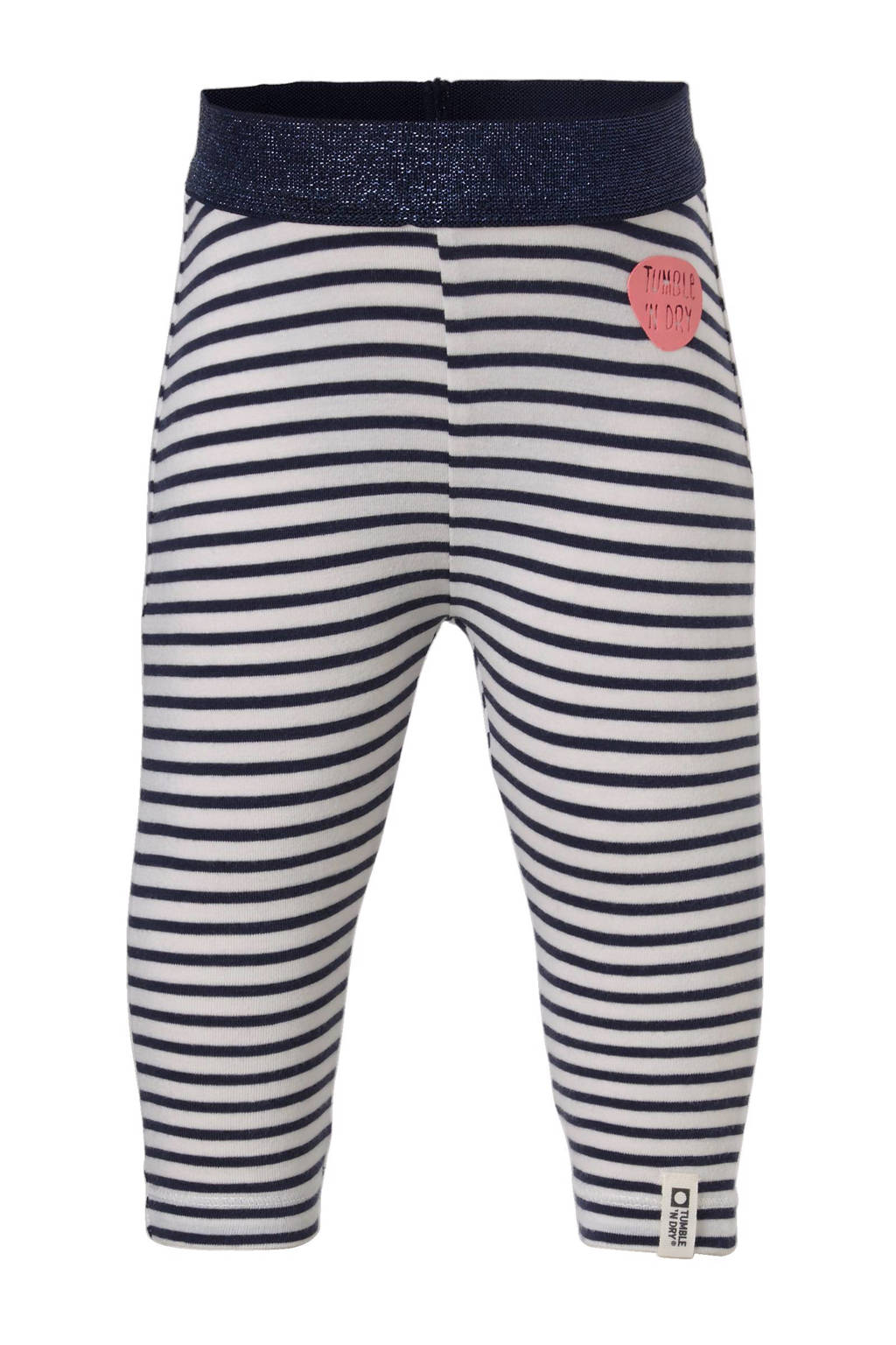 Tumble 'n Dry Zero baby gestreepte legging Zeena blauw/wit, Donkerblauw/wit