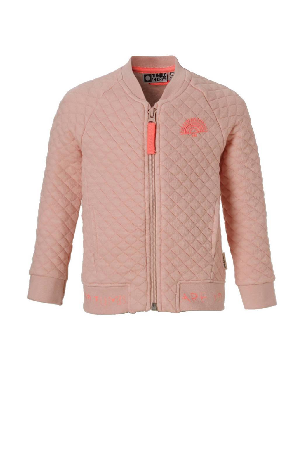 Tumble 'n Dry Lo sweatvest Tatom roze, Lichtroze