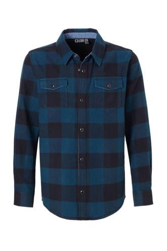 Hi geruit overhemd Radboud blauw