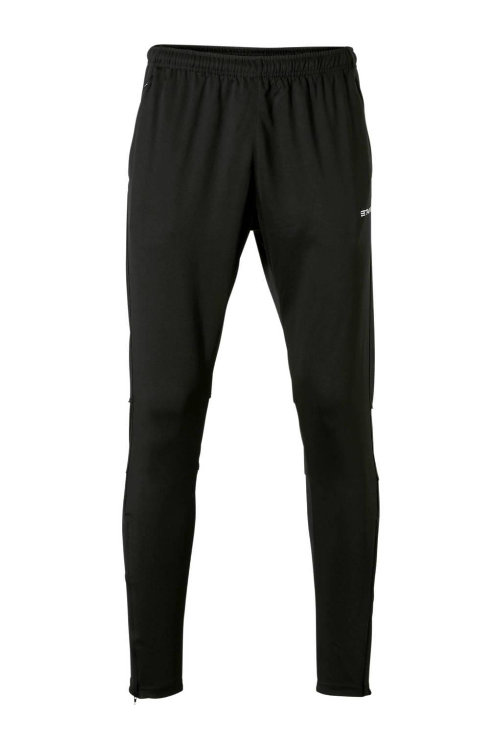 Stanno   Centro Fitted Pants sportbroek zwart, Zwart