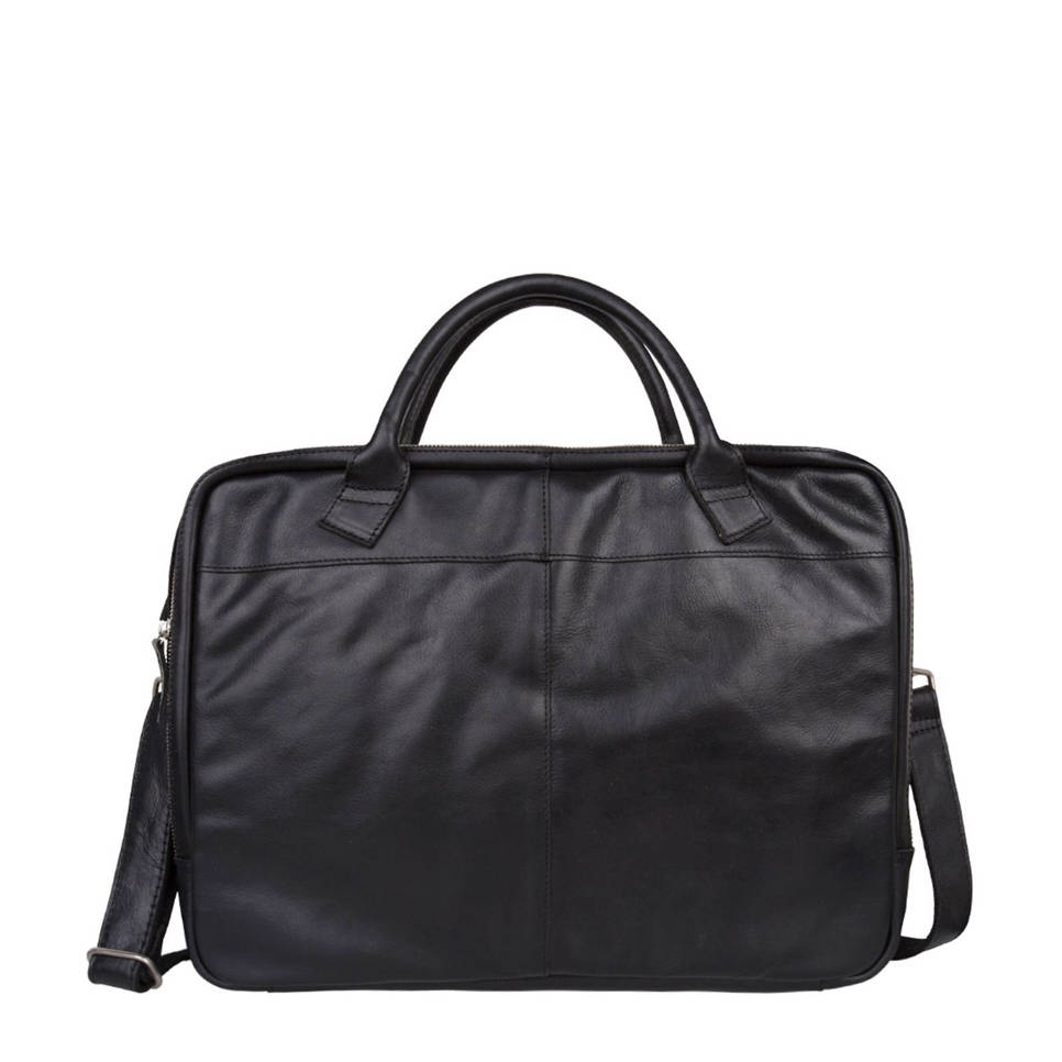 Cowboysbag  17,3 inch leren laptoptas Bag Graham, 100 - Black