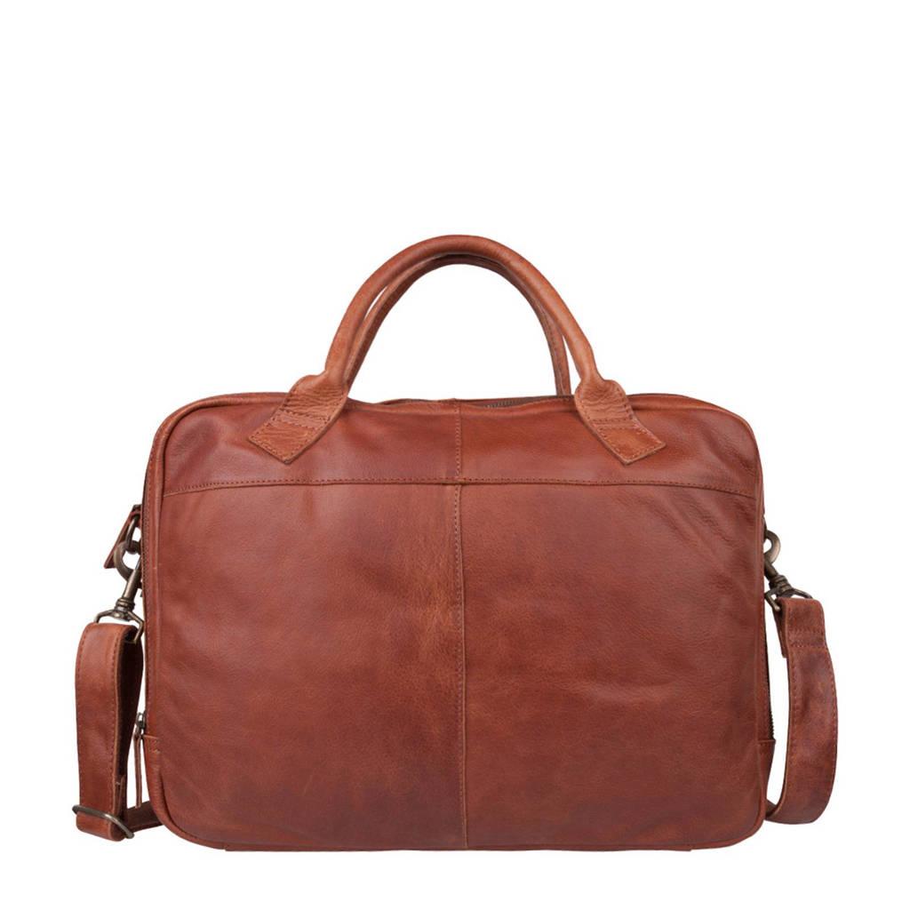 Cowboysbag  17,3 inch leren laptoptas Bag Graham, 300 - Cognac