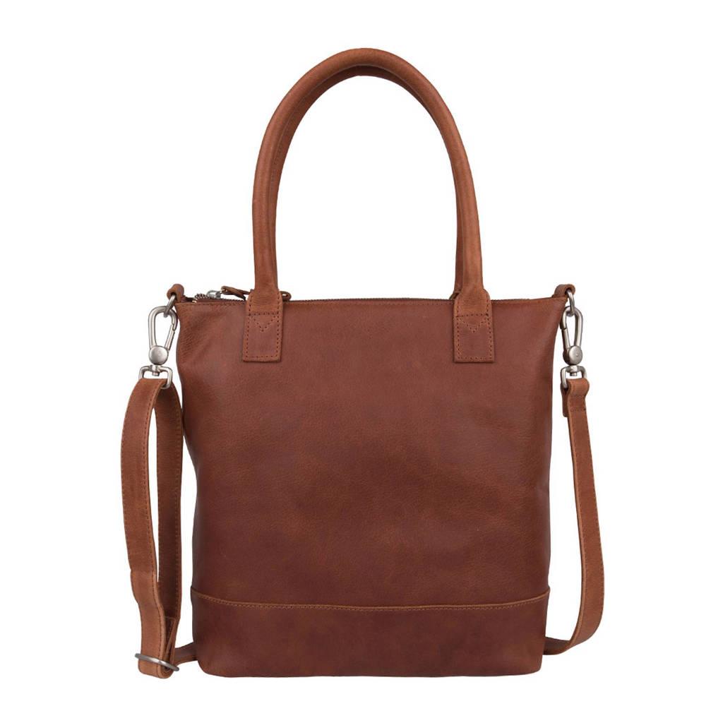 Cowboysbag   leren handtas Bag Glasgow, 300 - Cognac